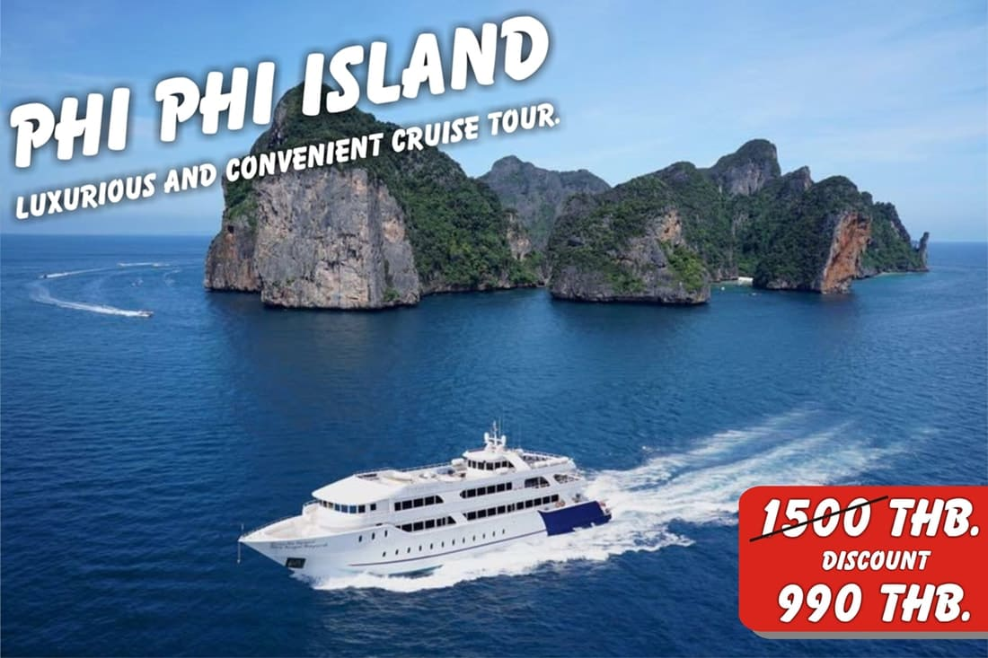 phi phi island tour by big boat.